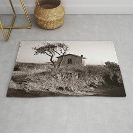 """Abandoned Barn of Sardinia - """"VACANCY"""" zine Rug"""