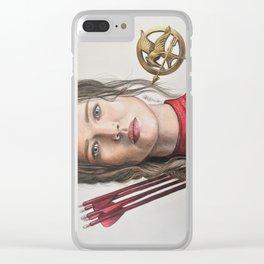 Katniss fan art Clear iPhone Case