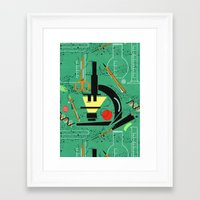 biology Framed Art Prints featuring BIOLOGY by cecimonster