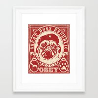 obey Framed Art Prints featuring OBEY by solomnikov