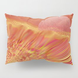 Pink and Yellow Moon Pillow Sham