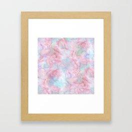 Tangled Pink Fireworks Framed Art Print