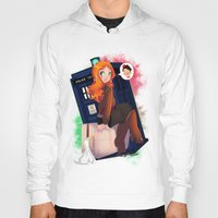amy pond Hoodies featuring Doctor Who - Amy Pond by Lucy Fidelis
