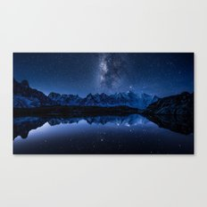 Night mountains Canvas Print
