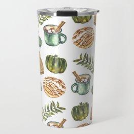 Watercolor Winter Objects Travel Mug