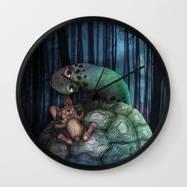 '龜兔再賽跑 The Tortoise and the Hare: Rematch' cover Illustration Wall Clock