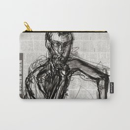 Instinctive - Charcoal on Newspaper Figure Drawing Carry-All Pouch