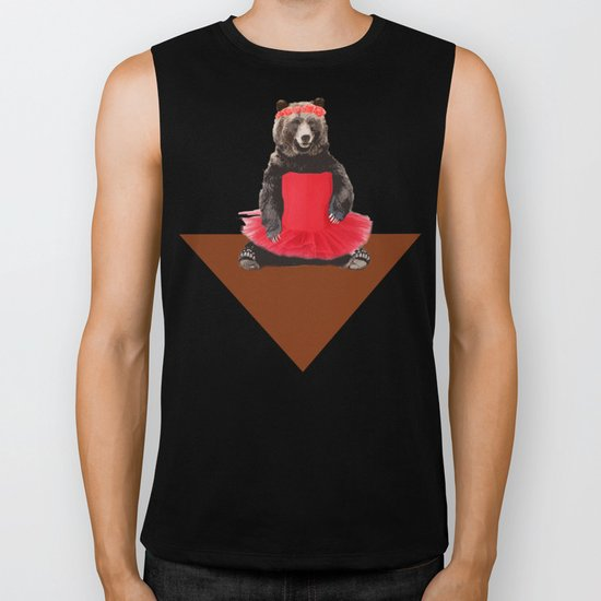 the bear who wanted to become a dancer Biker Tank