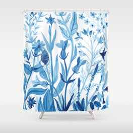Blue Wildflowers Shower Curtain