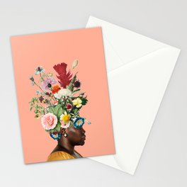 Flower Power- Peach Stationery Cards