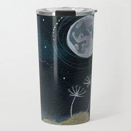 Moon Series #11 Watercolor + Ink Painting Travel Mug