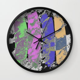 All 4 One - Abstract, textured artwork Wall Clock