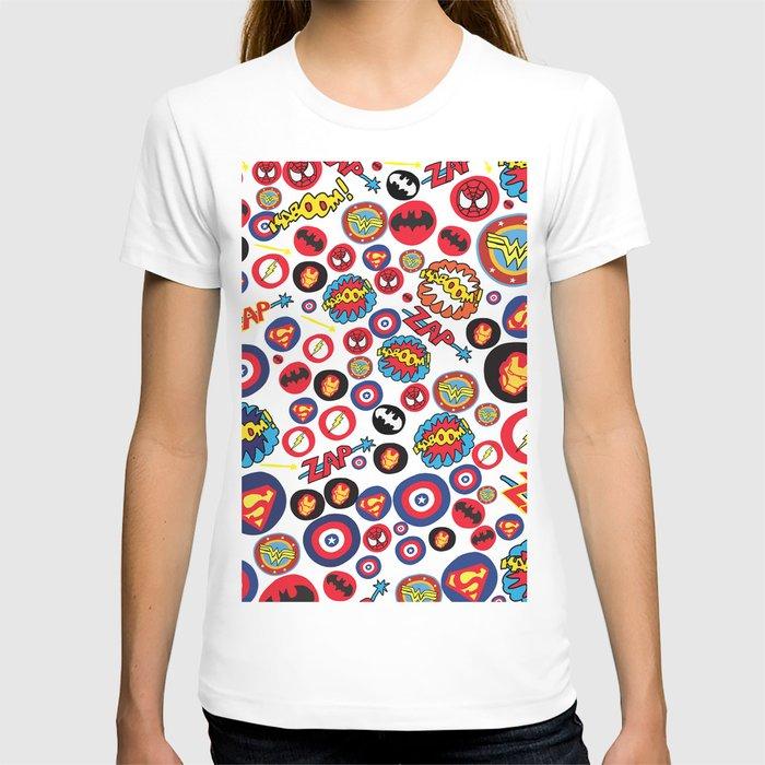 Superhero Stickers T-shirt