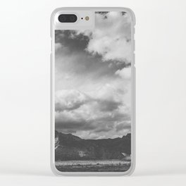 Red Rock Canyon, Las Vegas, Nevada. Mountain Black and White Photograph Clear iPhone Case
