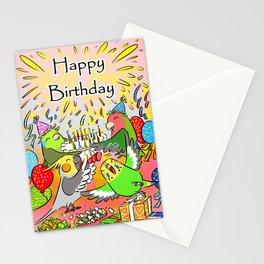 Lovebird budgie cockatiel parrotlet happy birthday Stationery Cards