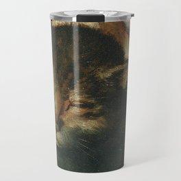 Cat in the art – Vermeyen- holy family - detail Travel Mug