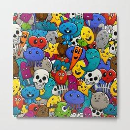 Colorful Mashup of  Monsters Metal Print