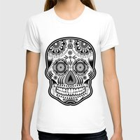 sugar skull T-shirts featuring sugar skull by Ancello