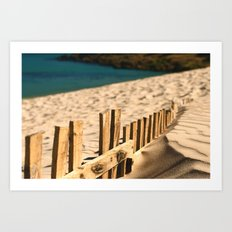 Fence beach Art Print