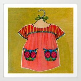 Avery Dress 01 Art Print