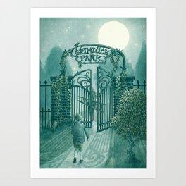 The Night Gardener - Grimloch Park Art Print