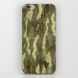 Distressed Camouflage iPhone Skin