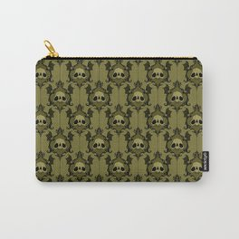 Halloween Damask Olive Carry-All Pouch