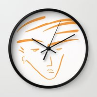 the dude Wall Clocks featuring Dude by thisisddm