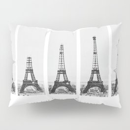 1888-1889 The Rise of the Eiffel Tower Construction Sequence Photographic Poster Pillow Sham