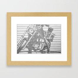 Biker Chick Framed Art Print
