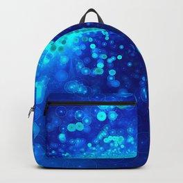 Blue Glitter Wave Backpack