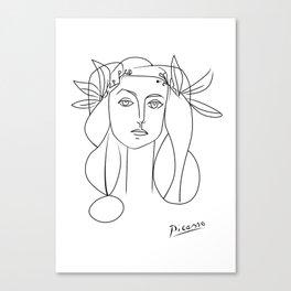 Picasso lady  Modern Sketch Picasso Art Modern Minimalist Canvas Print