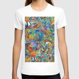 Tropical Beach Art - Under The Sea - Sharon Cummings T-shirt