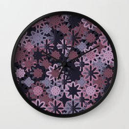 Colorful Abstract Random Circles Texture, Background Pattern Wall Clock