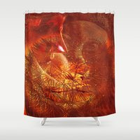 beauty and the beast Shower Curtains featuring beauty and the Beast by  Agostino Lo Coco