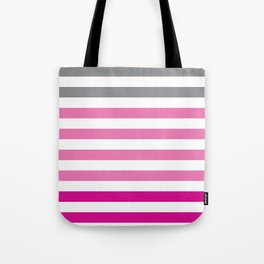 Stripes Gradient - Pink Tote Bag