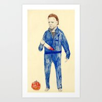 michael myers Art Prints featuring Michael Myers by withapencilinhand