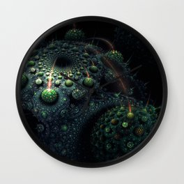 Corals of the Dark Water Wall Clock