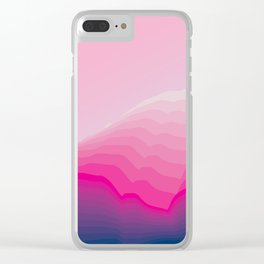 iso mountain slope Clear iPhone Case