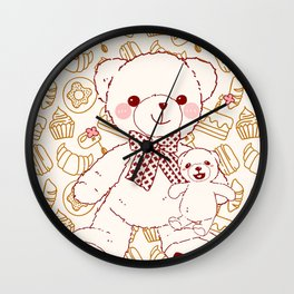 The Adventures of Bear and Baby Bear-Pastry Wall Clock