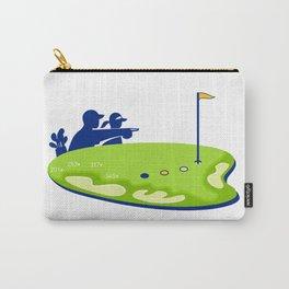 Golfer Caddie Golf Course Retro Carry-All Pouch