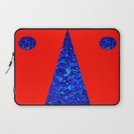 Red with blue polycon Laptop Sleeve