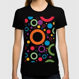 Circle and ring design T-shirt