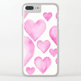 Hearts 3 Clear iPhone Case