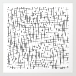 Black mesh Art Print