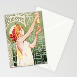 Art Nouveau Absinthe Robette Ad Stationery Cards