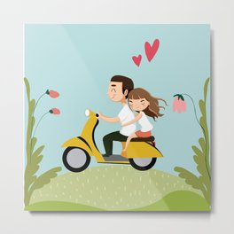 Everywhere with you Metal Print