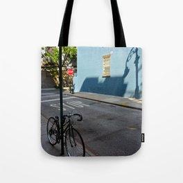 Shadows on a Greenwich Village street, NYC Tote Bag