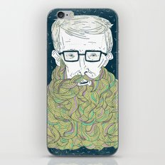 Hipster Beards iPhone & iPod Skin