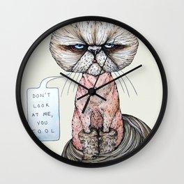 Kitty Got A Haircut Wall Clock